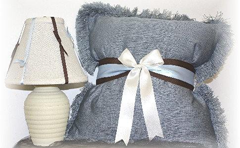 Ribbon Pillow and Lamp