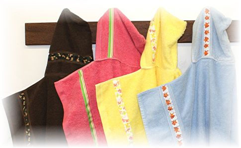 Hooded Towels with Ribbon