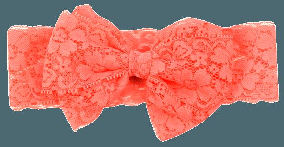 Lace Headband W Bow