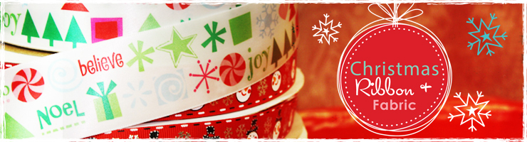 Christmas Ribbon and Fabric